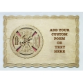 CUSTOM FIREFIGHTER OR FIREFIGHTERS WIFE 8X12 PLAQUE - ADD YOUR OWN POEM OR TEXT